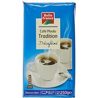 Belle France Café Moulu Décaféine Robusta Tradition 250 g - Lot de 6