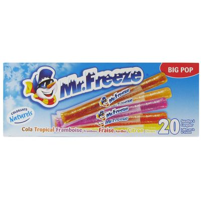 Mr Freeze assortis Big Pops boite 20x45ml