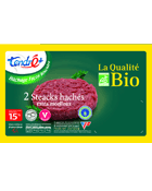 2 steaks haches extra moelleux Bio