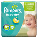 Pampers baby dry geant 16/26kg x30 taille6 +