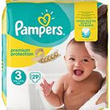 Couches new baby midi taille 3, 4-9kg PAMPERS, paquet de 29