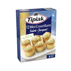 Mini croustillants de St Jacques TIPIAK, 12 unites, 145g