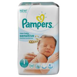 Pampers new baby sensitive geant t1 3/6 kg x39