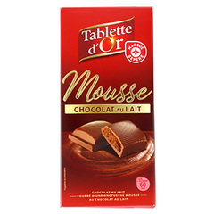 Chocolat Tablette d'Or Fourre mousse 160g