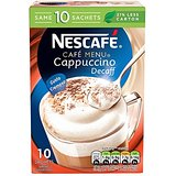 Nescafé Café Menu Cappuccino Decaff 15 g (Pack of 6, Total 60 Units)