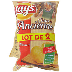 Chips a l'ancienne Lays 2x135g