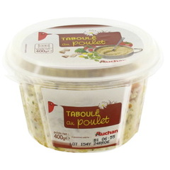 Auchan taboule volaille 400g