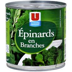 Epinards en branches U, 265g
