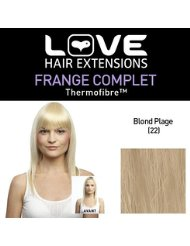 Love Hair Extensions - LHE/FRK1/QFC/CIF/22 - Thermofibre(TM) - Clip-In Frange Complet - Couleur 22 - Blond Plage...