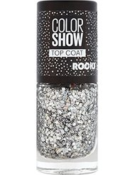 Gemey Maybelline Colorshow - Top Coat -90 CRYSTAL ROCKS - Paillettes argentées