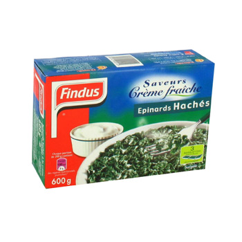 Epinards haches Findus creme 600g