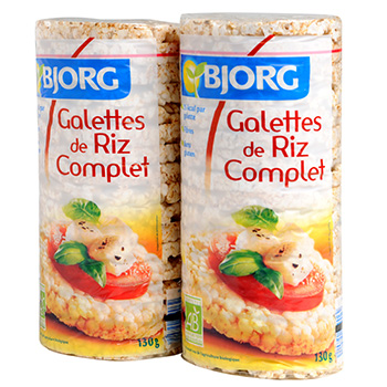 Galettes riz complet Bjorg 2x130g