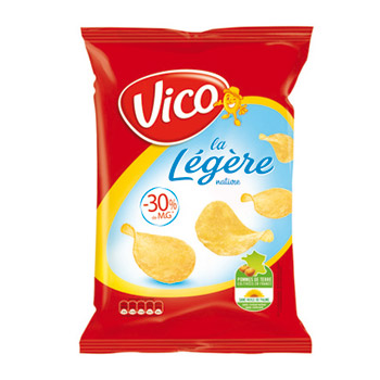 Chips legeres salees