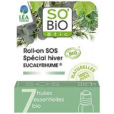 Roll-on SOS special hiver Eucalyrhume aux huiles essentielles bio SO BIO Etic, 5ml
