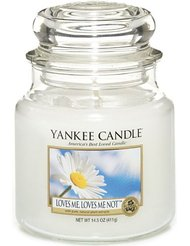 Yankee Candle 1205380 Bougie cylindre en verre Blanc