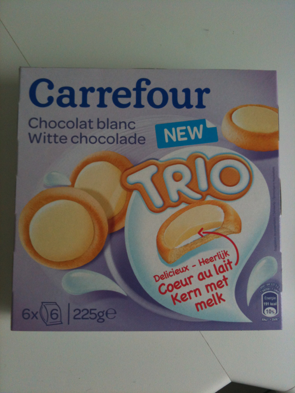 Biscuits chocolat blanc Carrefour Kids