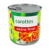 carottes extra fines auchan 265g