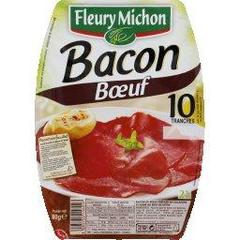 Bacon de boeuf FLEURY MICHON, 10 tranches, 80g