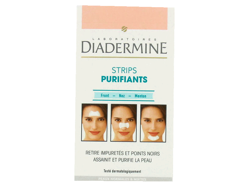 Patchs purifiants Diadermine 3 zones ,6 pieces