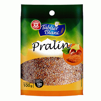 Pralin Tablier Blanc 100g