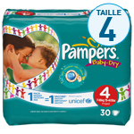 Couches Pampers Baby Dry T4 7-18kg x30