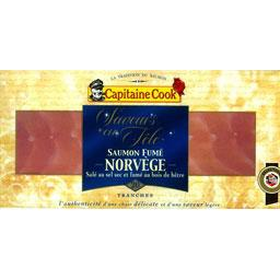 Capitaine Cook, Saumon fume norvegien 20 tranches, la plaque de 500 gr