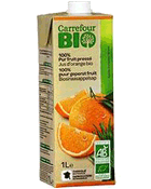 Jus d'orange bio 100% pur fruit presse