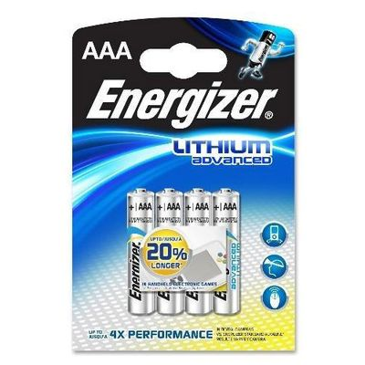Piles lithium advanced AAA L92 1,5V micro/mini stilo