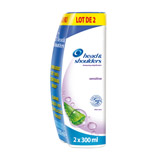 shampooing antipelliculaire sensitive head & shoulders 2x300ml