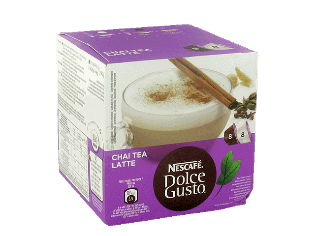 The au lait en dosettes Chai Tea Latte DOCLE GUSTO, 8 dosettes the + 8 dosettes lait, 159g