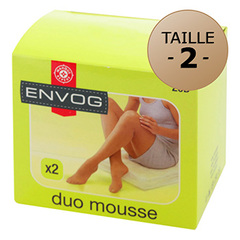 Lot de 2 collants Envog Mousse taille 2 beige moyen