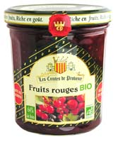 Les Comtes de Provence Confiture de Fruits Rouges Bio 350 g - Lot de 3