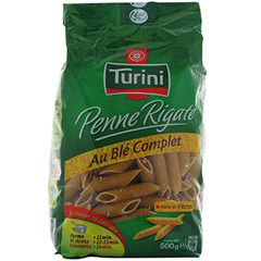 Pates penne ble complet Turini 500g