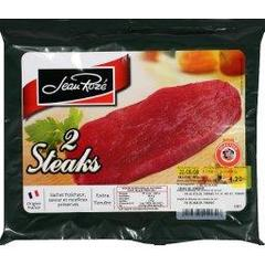 Steaks extra tendre x2, le paquet, 240g