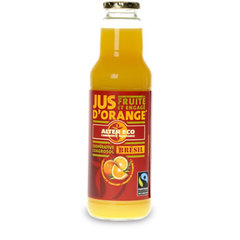 Jus d'orange a base de concentre ALTER ECO, 75cl