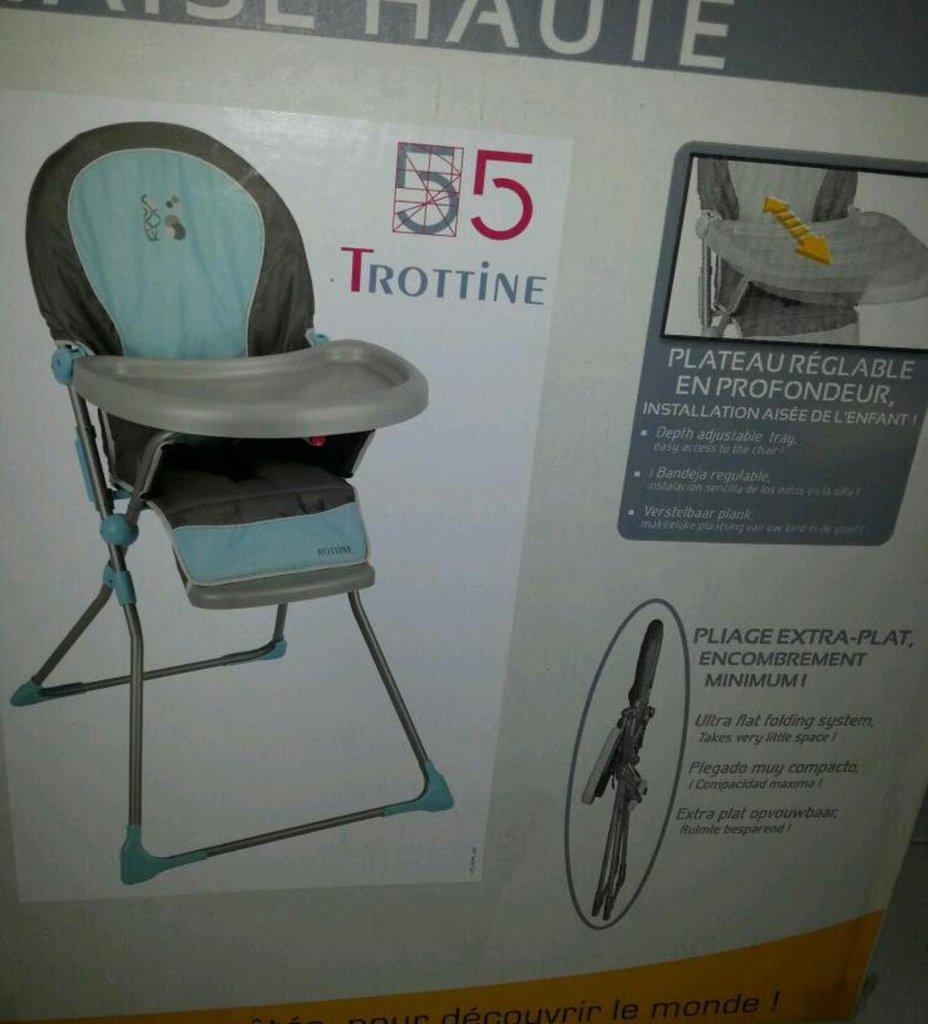 trottine 55 chaise haute keppler l 39 unit tous les produits accessoires prixing. Black Bedroom Furniture Sets. Home Design Ideas