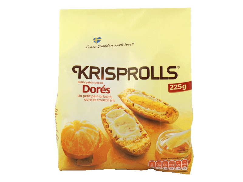 Pains grilles Krisprolls Dores Blonds 225g