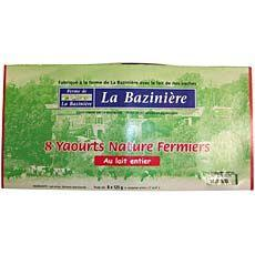 8 yahourts nature fermiers Echire, 8X125g
