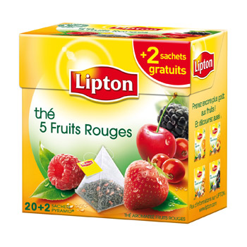 the 5 fruits rouges 20 sachets lipton