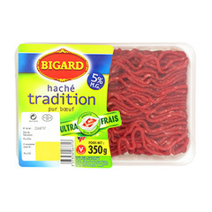 Haché tradition, 5% MAT.GR, BIGARD, 350g, France