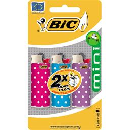 Briquets mini decor J25 BIC, 3 unites