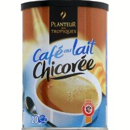 Cafe au lait chicoree, preparation instantanee, la boite, 400g