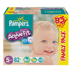 Couches Pampers Active Fit Family pack x82
