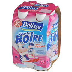 Yaourt a boire Delisse Framboise 4x180g