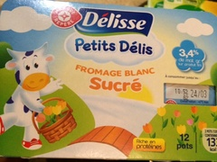 Fromage frais Delisse Nature sucre 3.4%mg 12x60g