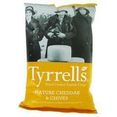 Chips saveur cheddar TYRRELL'S, 150g