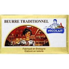 Beurre doux traditionnel NICOLAIT, 250g