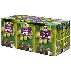 Pur jus de raisin U, 6x20cl