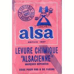 Levure chimique alsacienne 7 sachets de 11g tous les produits aides la p tisserie prixing - Carbonate de sodium danger ...