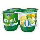 Activia 0% aux fruits et au bifidus lemon lime 4x125g
